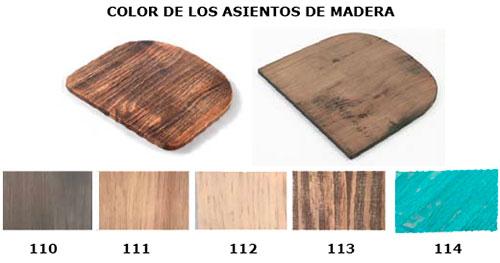 color asientos madera